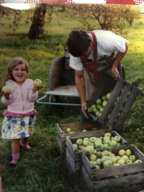 Picking apples at my family's orchard